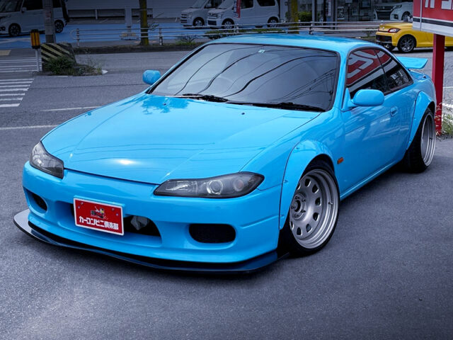FRONT EXTERIOR OF S14 SILVIA with S15 FRONT END SWAP.