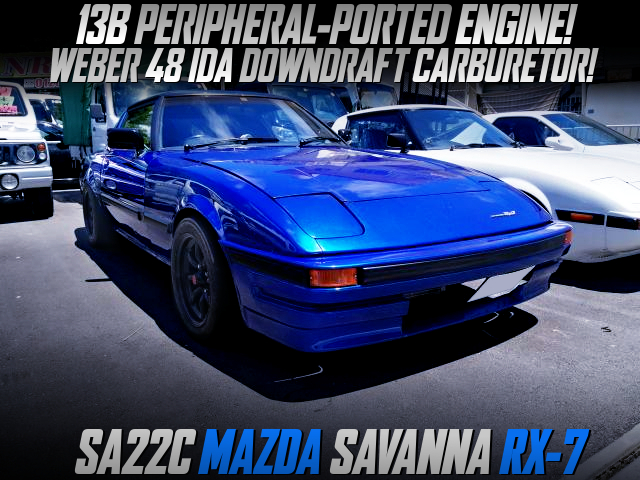 PERIPHERAL PORTED 13B With WEBER CARB into SA22C SAVANNA RX7.
