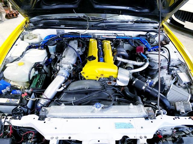 S14 SR20DET BLACKTOP VCT TURBO ENGINE.