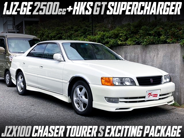 HKS GT SUPERCHARGED 1JZ-GE ENGINE into JZX100 CHASER TOURER-S EXCITING PACKAGE.