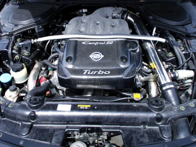 VQ35DE with CENTRAL 20 TWIN TURBO KIT.