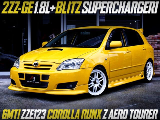 BLITZ SUPERCHARGED 2ZZ-GE into ZZE123 COROLLA RUNX Z AERO TOURER.