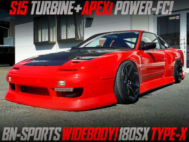 BN SPORTS WIDEBODY of S13 NISSAN 180SX TYPE-X.