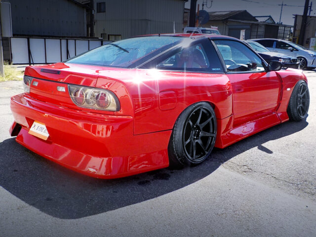 REAR EXTERIOR of NISSAN 180SX TYPE-X.