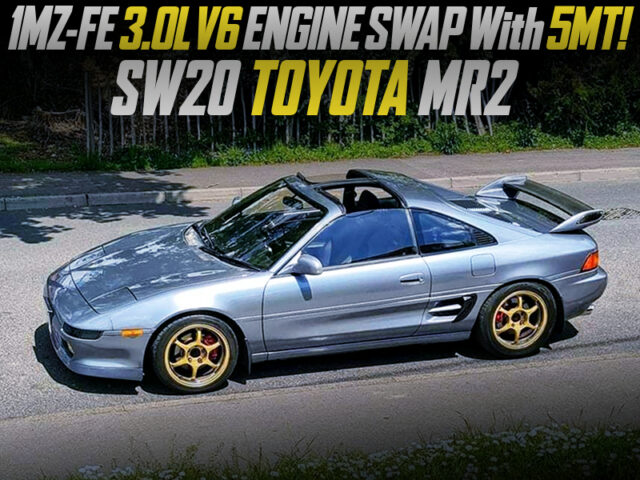 CAMRY 1MZ FE 3000cc V6 ENGINE and 5MT SWAPPED SW20 MR2.