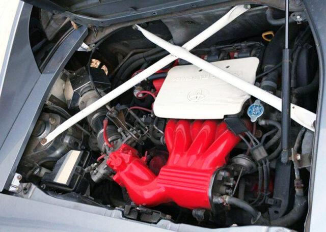1MZ-FE 3000cc V6 ENGINE into SW20 MR2 ENGINE ROOM.