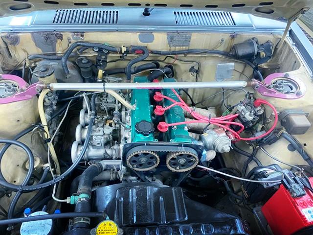 16-VALVE 4A-GE ENGINE with SOLEX CARBS.