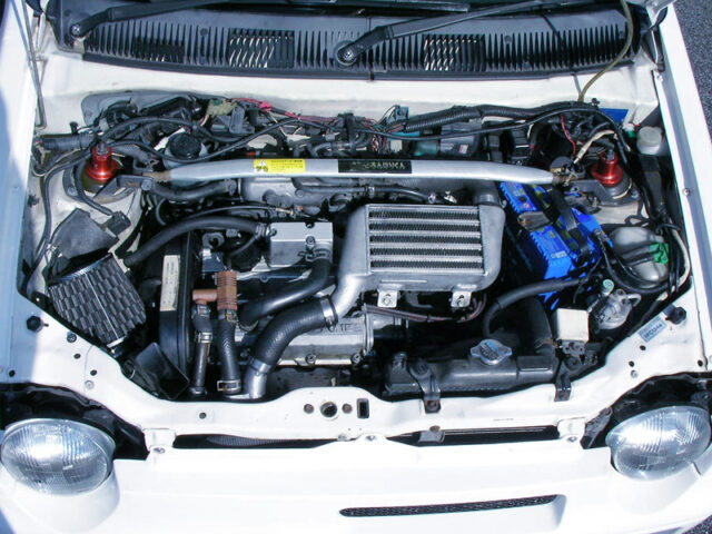 F6A TWINCAM turbo ENGINE with AFTERMARKET TURBO.