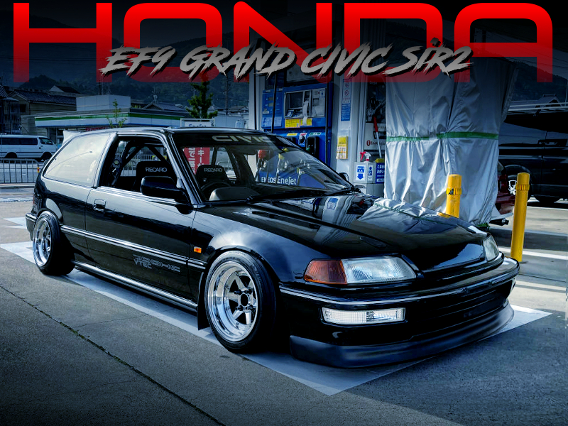 XR4 WHEELS and ROLL CAGE MODIFIED EF9 GRAND CIVIC SiR2.