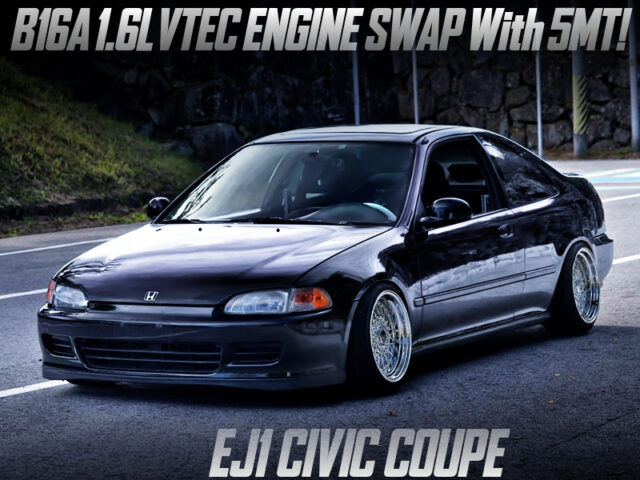 B16A VTEC SWAPPED EJ1 CIVIC COUPE.