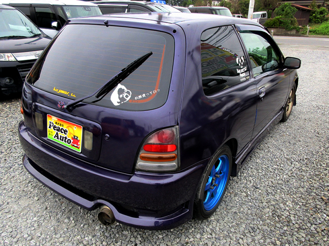 REAR EXTERIOR of EP91 STARLET GLANZA S.