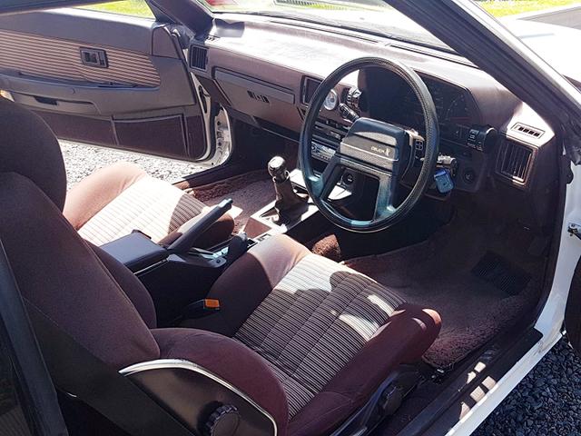 DRIVER'S SIDE INTERIOR of GA61 CELICA XX.