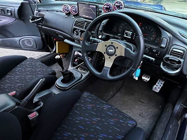 DRIVER'S SIDE DASHBOARD and MOMO STEERING.