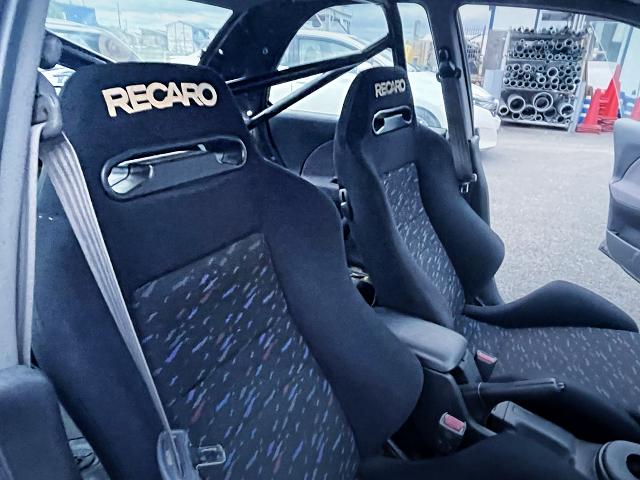 RECARO SEATS of GC8 IMPREZA WRX INTERIOR.