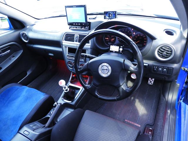 DRIVER'S SIDE DASHBOARD of GDB BUGEYE WRX STi LIMITED.