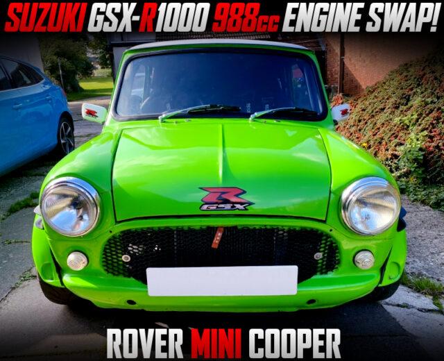 SUZUKI GSX-R1000 988cc BIKE ENGINE SWAPPED ROVER MINI COOPER.