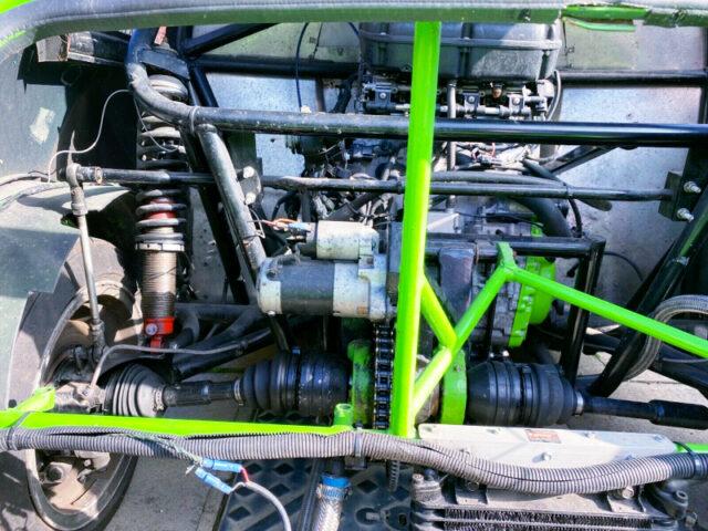 REAR MOUNTED GSX-R1000 988cc BIKE ENGINE.