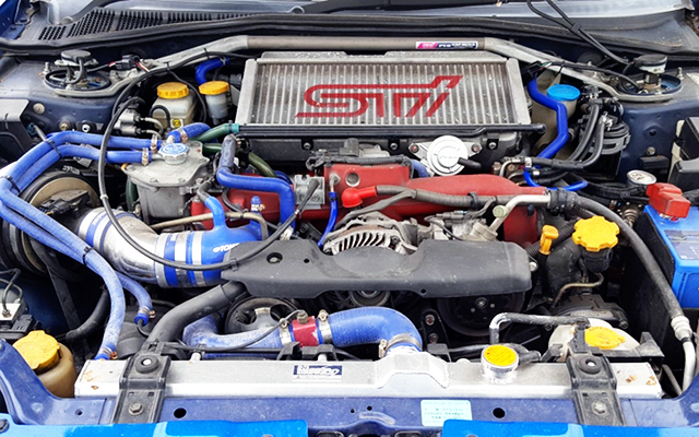 REBULT EJ207 BOXER ENGINE with TOMEI TURBOCHARGER.
