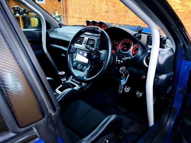 DRIVER'S SIDE INTERIOR of GDB HAWKEYE WRX STI.