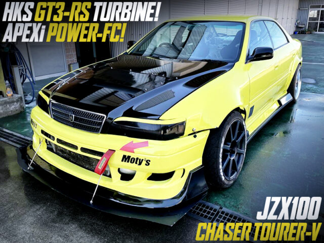 1JZ with GT3-RS TURBINE and POWER-FC into JZX100 CHASER TOURER-V.