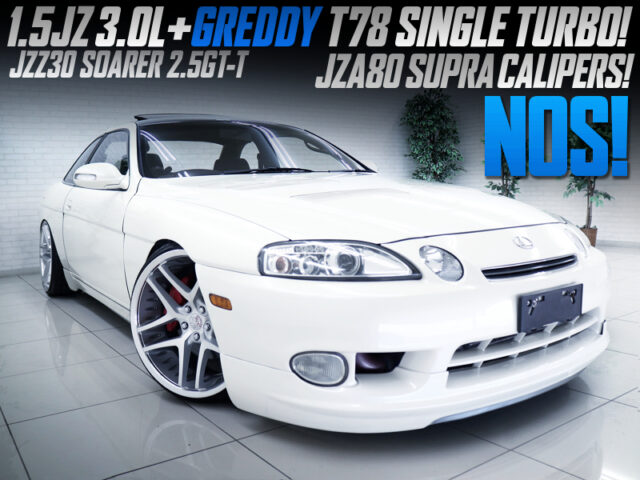 1.5JZ with NOS and T78 TURBO into JZZ30 SOARER.