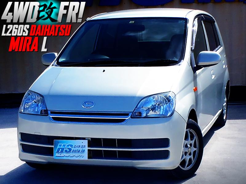 4WD to RWD CONVERSION of L260S DAIHATSU MIRA 5-DOOR L.