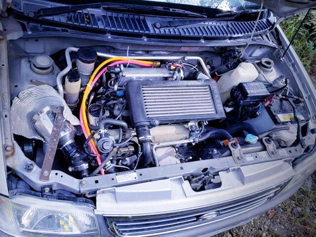 JB 660cc TURBO ENGINE into L700 MIRA ENGINE ROOM.