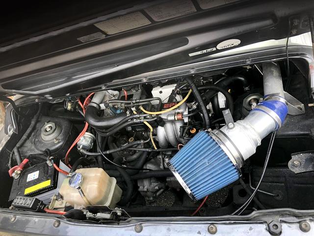 REAR MOUNTED F6A TURBO ENGINE with SUZUKI SPORT N2 TURBINE KIT.