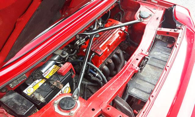 TYPE-R K20A i-VTEC ENGINE into MR2 ROADSTER ENGINE ROOM.