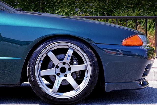 R32 GT-R FRONT BRAKE CALIPER CONVERSION.