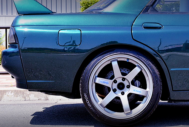 R32 GT-R REAR BRAKE CALIPER CONVERSION.