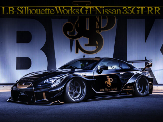 JPS LIVERY and LB-Silhouette Works GT BODY KIT modified R35 GT-R.