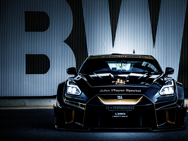 FRONT FACE of R35 GT-R LB-Silhouette WIDEBODY.