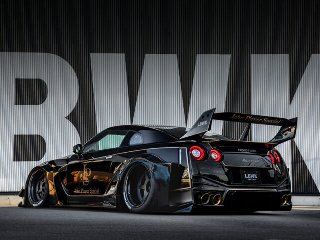 REART LEFT-SIDE EXTERIOR of R35 GT-R LB-Silhouette WIDEBODY.