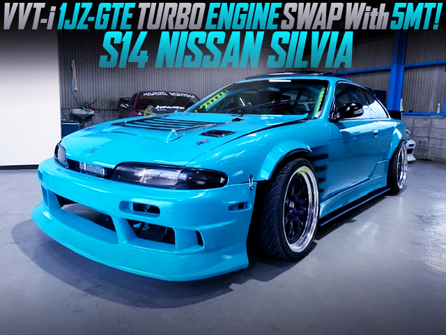 VVT-i 1JZ-GTE TURBO ENGINE and 5MT SWAPPED S14 ZENKI SILVIA DRIFT CAR.