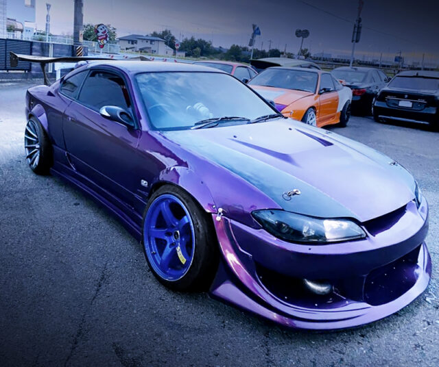 FRONT EXTERIOR of S15 SILVIA PURPLE.