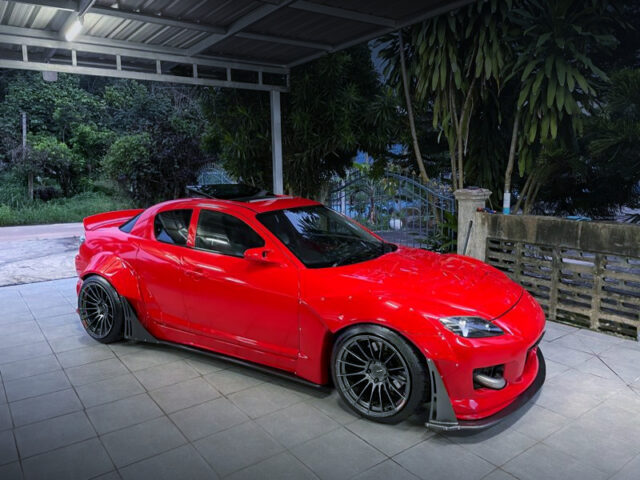 FRONT RIGHT-SIDE EXTERIOR of SE3P RX-8 WIDEBODY.
