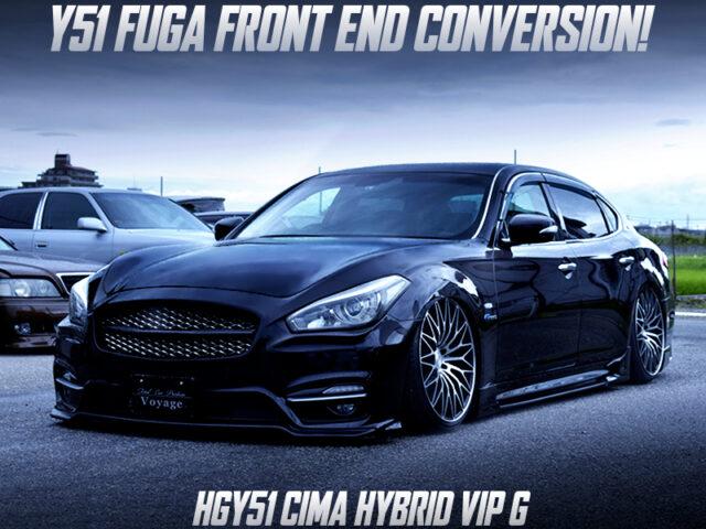 HGY51 CIMA HYBRIDE VIO G to Y51 FUGA FRONT END CONVERSION.